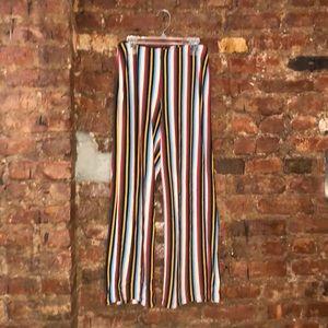 UO Rainbow striped knit pant